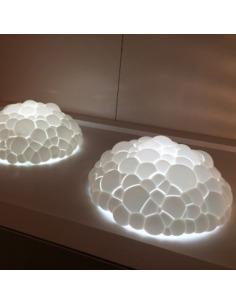 Lampe à poser Bolle Led fabriquée avec la technique de l'impression 3D en forme de nuage