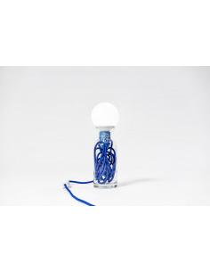 Lampe à poser Pulse S en verre recyclé au style vintage