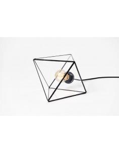 Lampe à poser rétro Aria en verre au style vintage