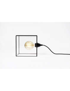 Lampe à poser rétro Terra en verre au style vintage