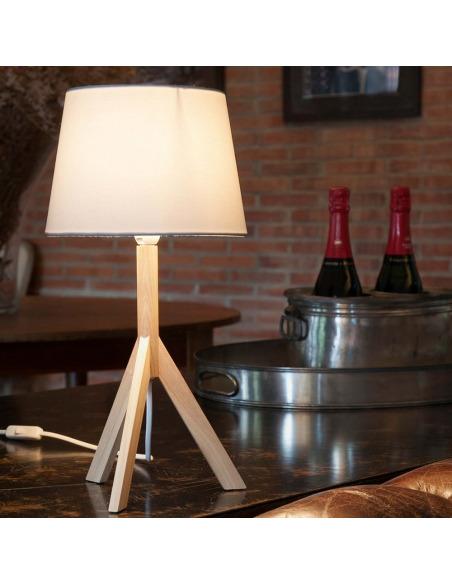 Lampe à poser GIA en bois au design scandinave et moderne