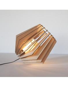 lampe poser mini spot en bois d coup au laser otoko. Black Bedroom Furniture Sets. Home Design Ideas
