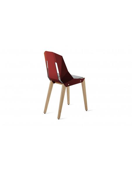 Chaise géométrique Diago Feutre en aluminium et bouleau au design minimaliste