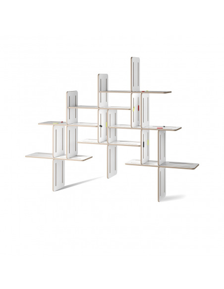 Étagère modulable bibliothèque design Dynks x7 pièces