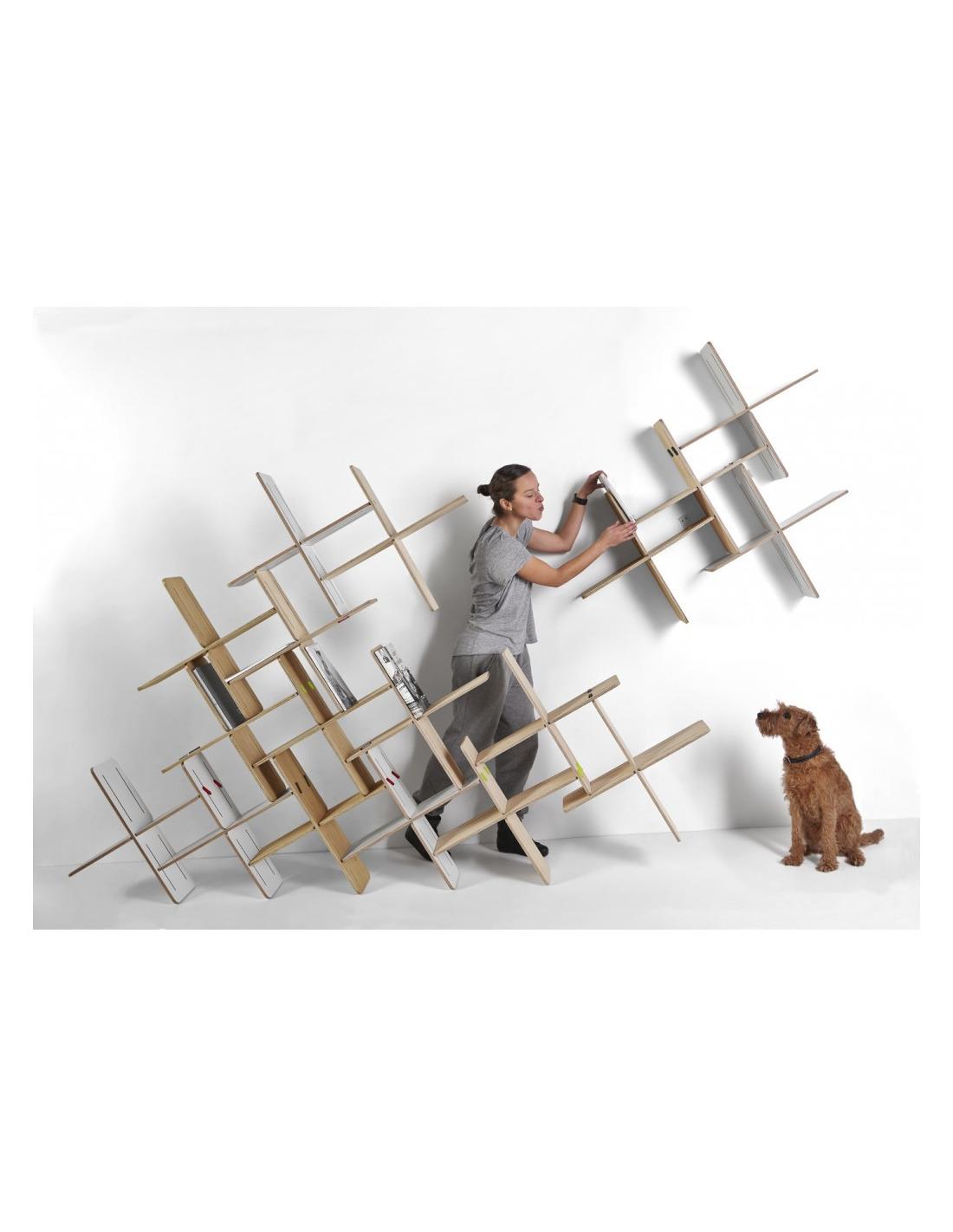 tag re modulable biblioth que x5 pi ces design dynks. Black Bedroom Furniture Sets. Home Design Ideas