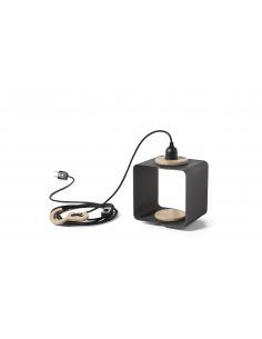 Lampe à poser baladeuse / Suspension Lampania au design contemporain en contreplaqué