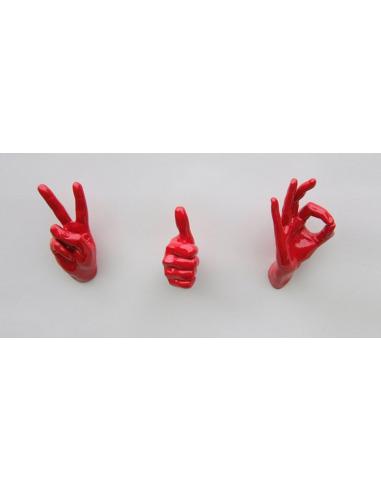 Patère originale et design Hand Job Peace par Thelermont Hupton
