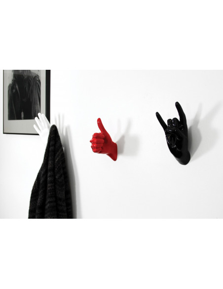 Patère originale et design Hand Job Rock par Thelermont Hupton