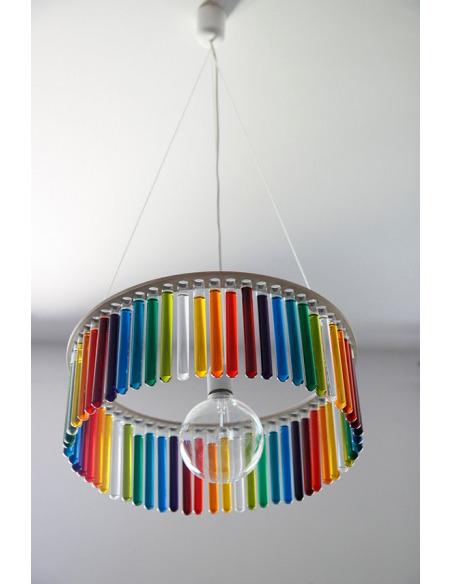 Lustre chandelier MARIA S.C. Single composé de 60 tubes à essai amovibles
