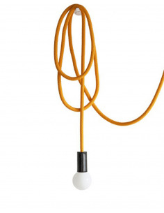 Suspension design corde modulable Loop Line Jaune