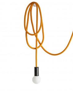 Suspension design corde modulable Loop Line Jaune