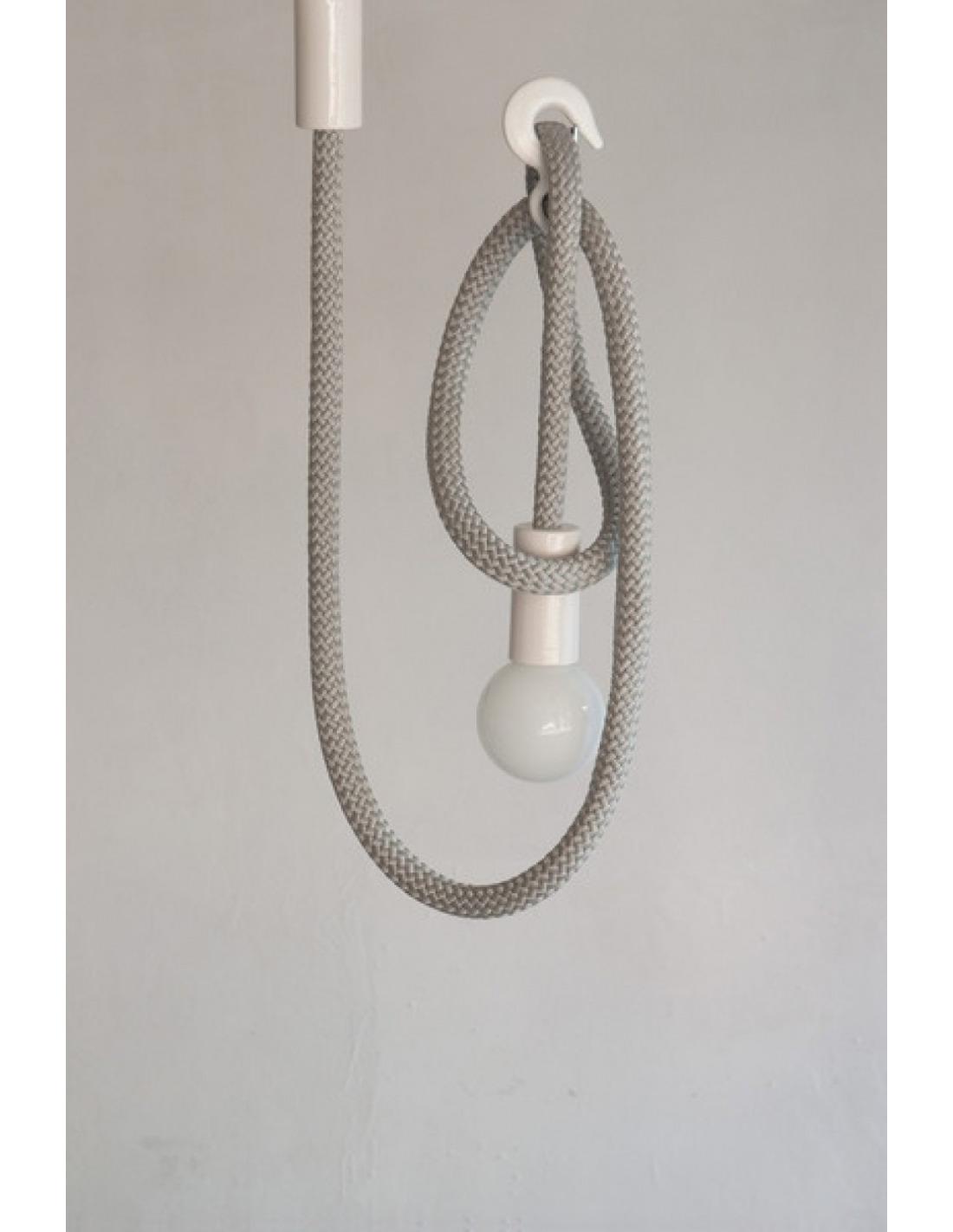 suspension design corde avec crochet modulable hook line otoko. Black Bedroom Furniture Sets. Home Design Ideas