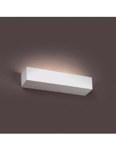 Applique en plâtre Crea au design moderne en forme rectangulaire