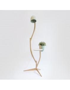 Table lampe Branch-out avec un pot de fleurs par Studio Lorier