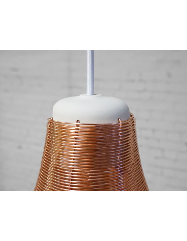 Suspension design en cuivre Copper lamp Wide