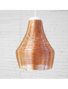 Suspension design en cuivre Copper lamp Wide