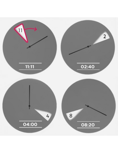 Horloge murale design FreakishClock Vert en aluminium