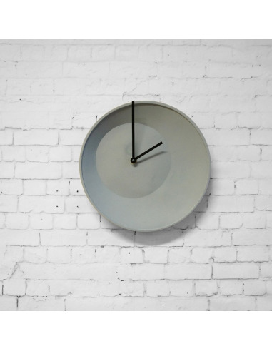 Horloge murale grande off center clock en c ramique - Grande horloge murale moderne ...