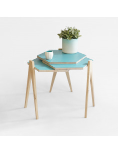 Table pliante compacte Slide table en bois