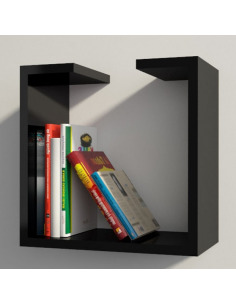 Étagère bibliothèque design moderne Qbetto medium
