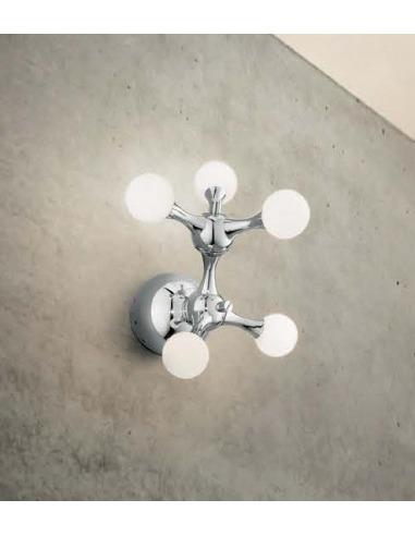 Applique design Futurista 5 en métal chromé