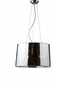 Suspension design Bourgie en métal chromé
