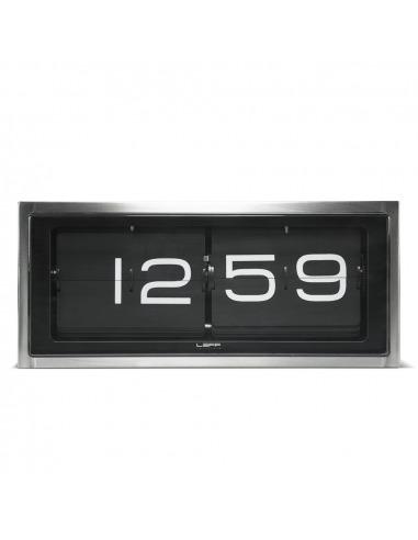 Horloge Flip design Brick en acier par Erwin Termaat au style vintage
