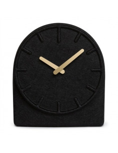 Horloge de table design Felt two noir par Sebastian Herkner