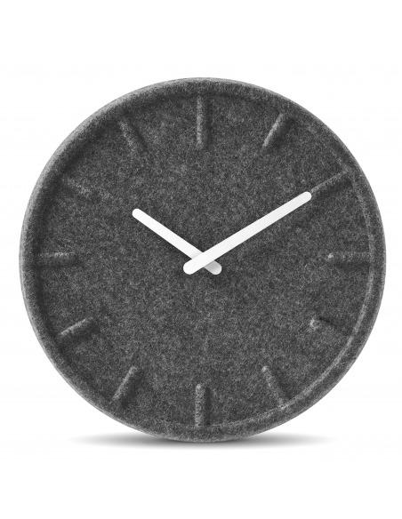 Horloge murale design Felt 35 blanc en feutre par Sebastian Herkner