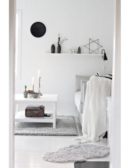 Horloge murale design Tone blanc en acier par wiebe Teertstra