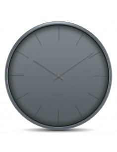 Horloge murale design Tone gris en acier par wiebe Teertstra