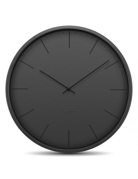 Horloge murale design Tone noir en acier par wiebe Teertstra