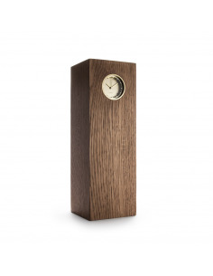 Horloge en bois de chêne tube wood par piet hein eek