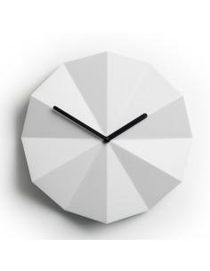 Horloge murale minimaliste Delta Clock blanc par lawa design