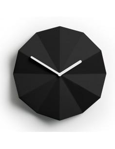 Horloge murale minimaliste Delta Clock noir