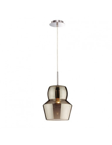 Suspension vintage Italian en verre