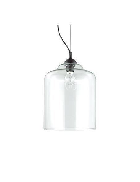 Suspension vintage Murano 3 en verre soufflé transparent
