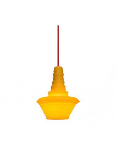 Suspension Stupa en résine naturelle tournée sur tour de potier par Innermost