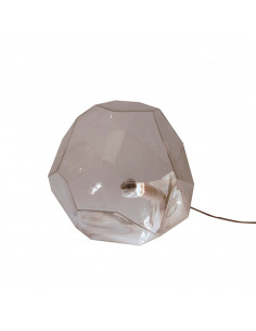 Lampe à poser en verre transparent ASTEROID par Koray OZGEN et Innermost