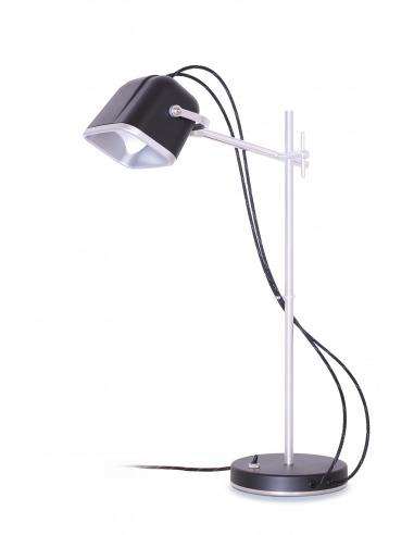 Lampe à poser vintage MOB en aluminium naturel par Swabdesign