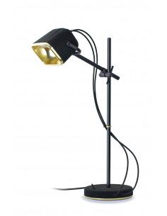 Lampe à poser vintage MOB en aluminium anodisé noir par Swabdesign