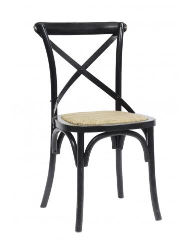 Chaise vintage X noir en chêne par Nordal