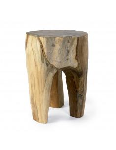 Tabouret en bois naturel Raw par Nordal