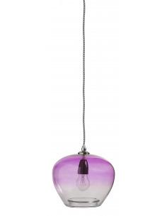 Suspension en verre teinté violet Bubble par Nordal