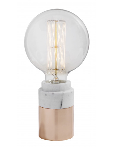 Lampe à poser vintage Marble blanc par Nordal