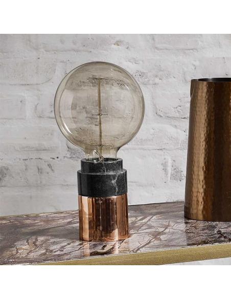 Lampe à poser Marble vert en marbre et cuivre par Nordal