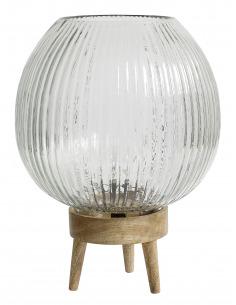 Lampe à poser GROOVES en bois et verre par Nordal