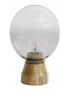 Lampe à poser Ball en bois et verre par Nordal