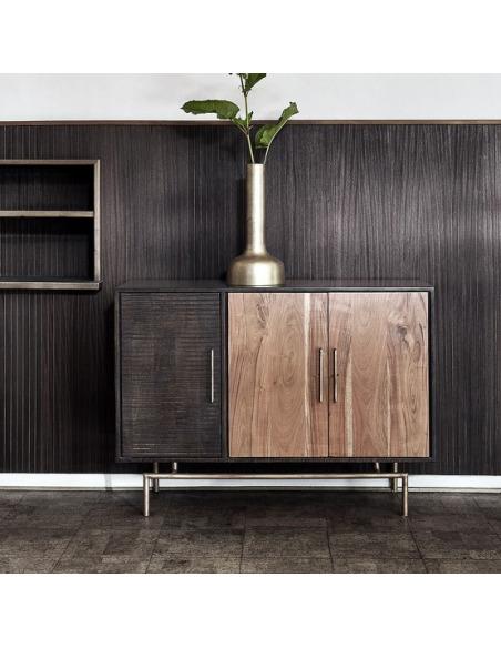 Buffet en bois d'acacia et bois d'amandier au design scandinave par Nordal