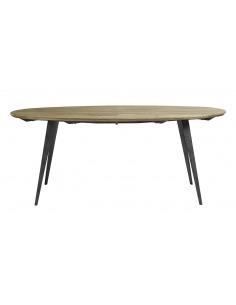 Table à manger ovale en bois de manguier au design scandinave par Nordal